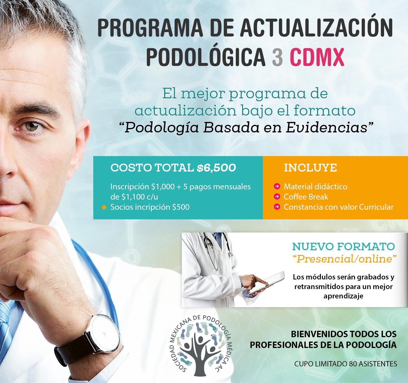 programa de actualización podológica 3 CDMX
